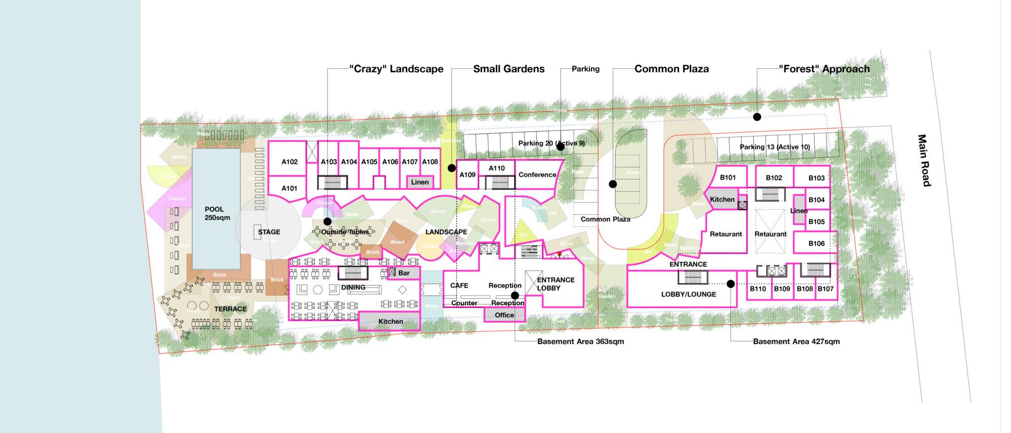 Ayutthaya Resort Crazy Landscape by Mosaic Design_plan