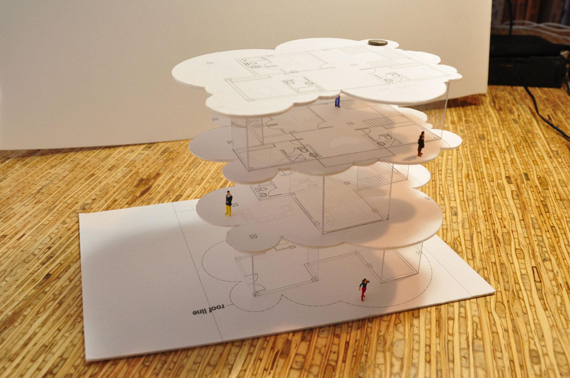 Thai Residence uttaradit cloud house study model
