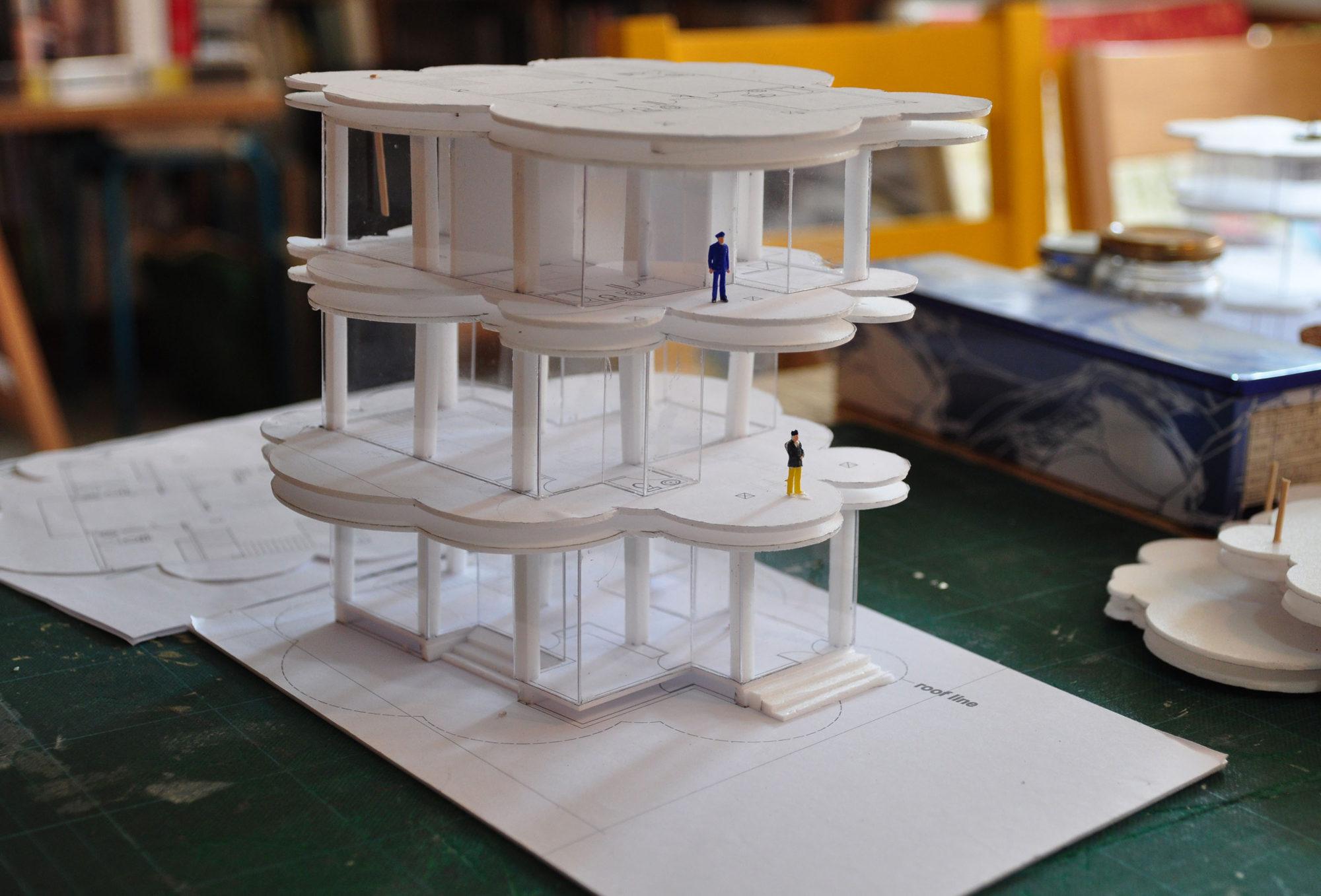 Thai Residence uttaradit cloud house study model2