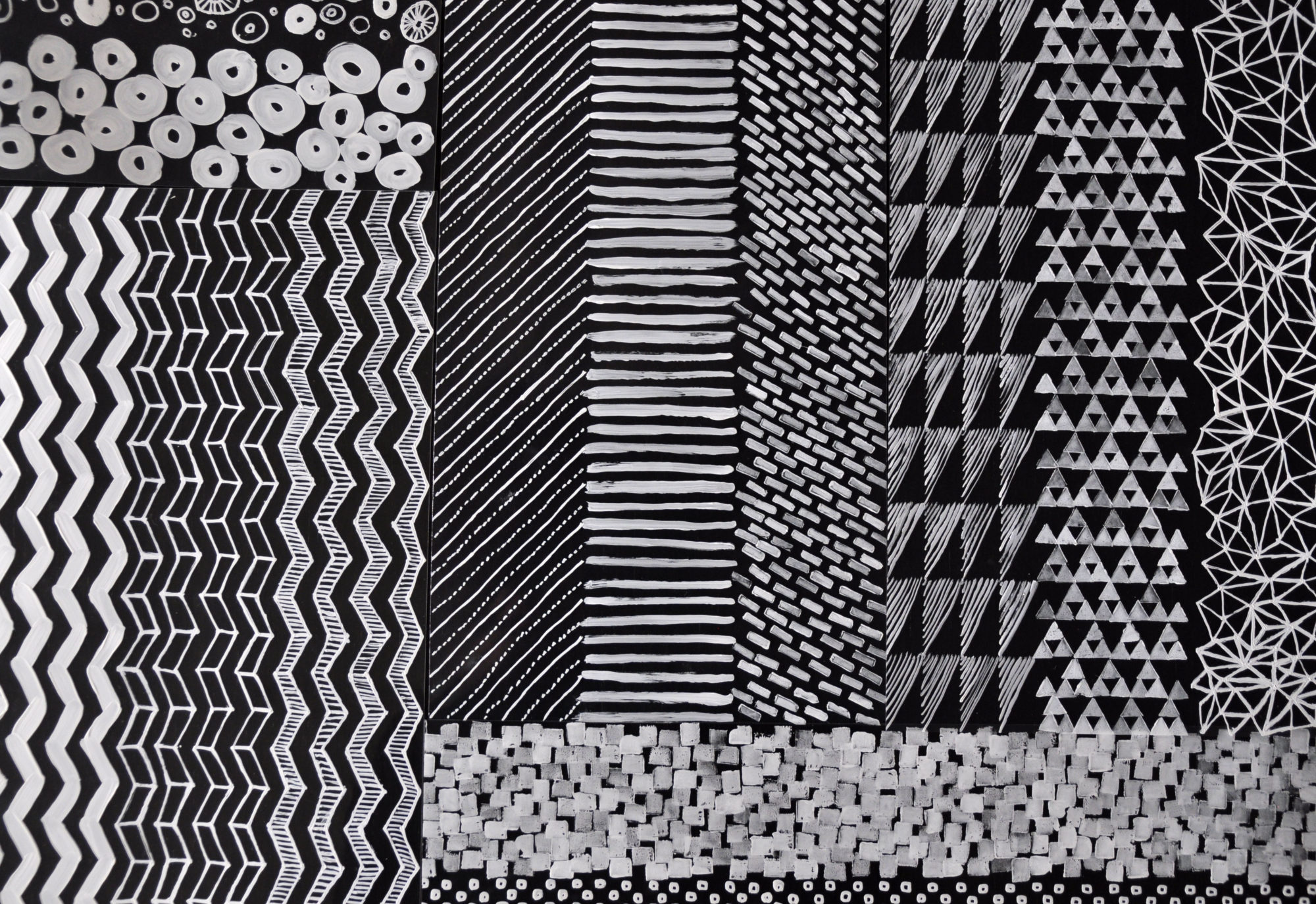 Hand drawn pattern studies