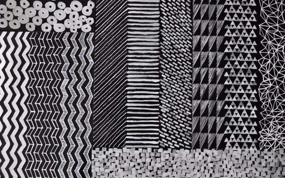 Hand drawn pattern studies