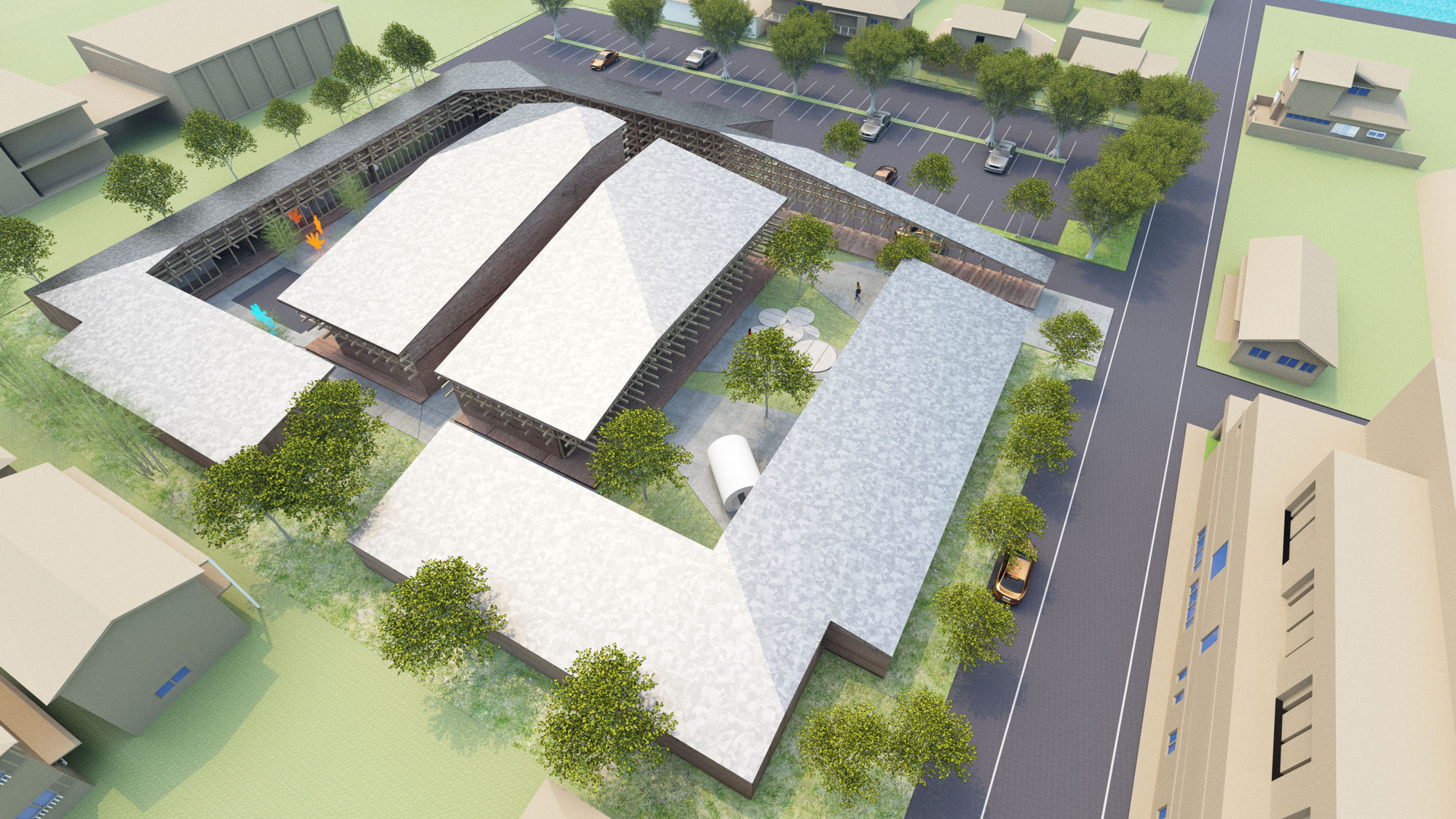 Yawatahama Nursery and Child Center Competition by Mosaic Design