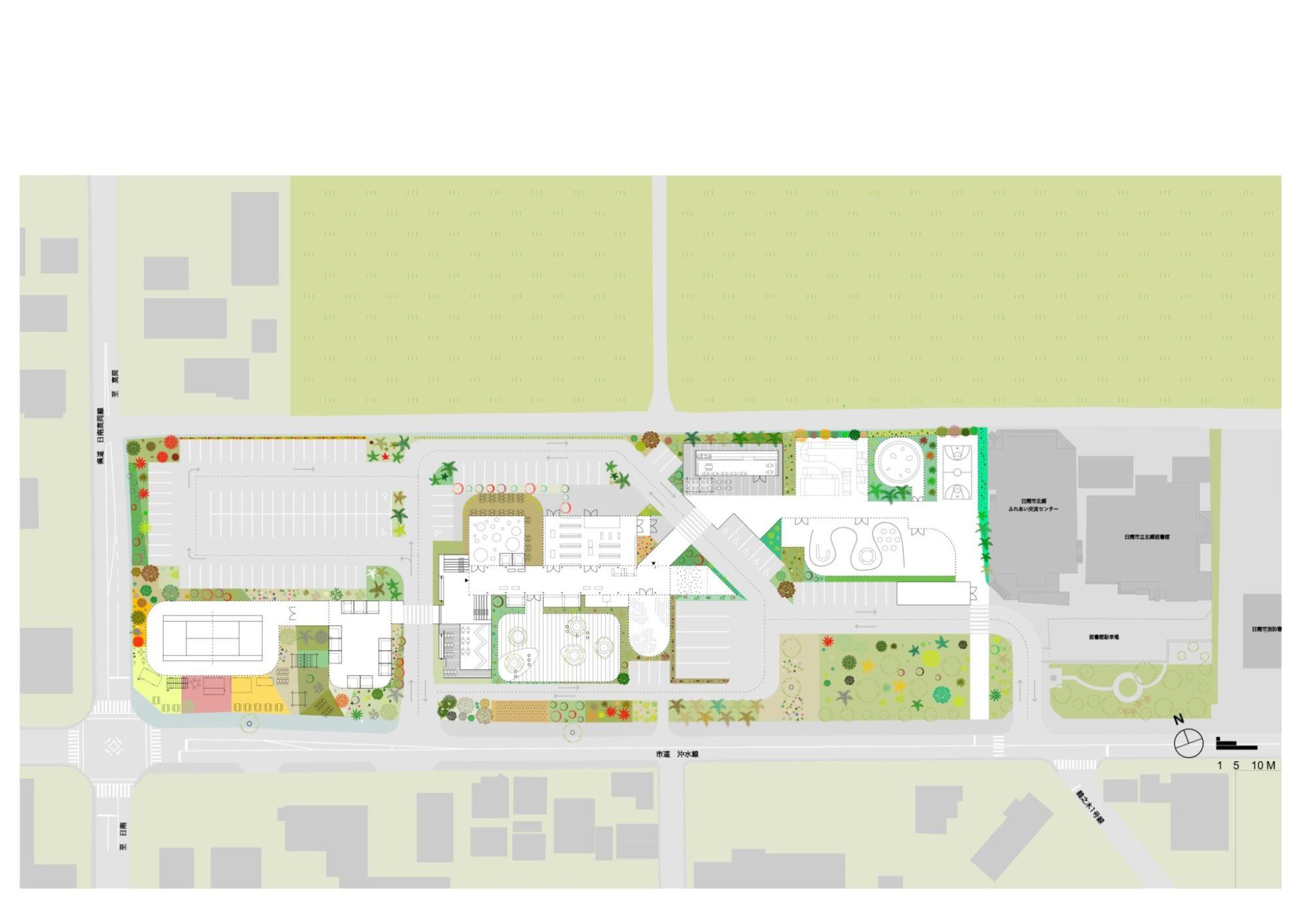 Kitago Michi no eki Proposal roadside station by mosaic design 北郷 道の駅 プロポーザル by モザイクデザイン Architect Ko Nakamura 中村航