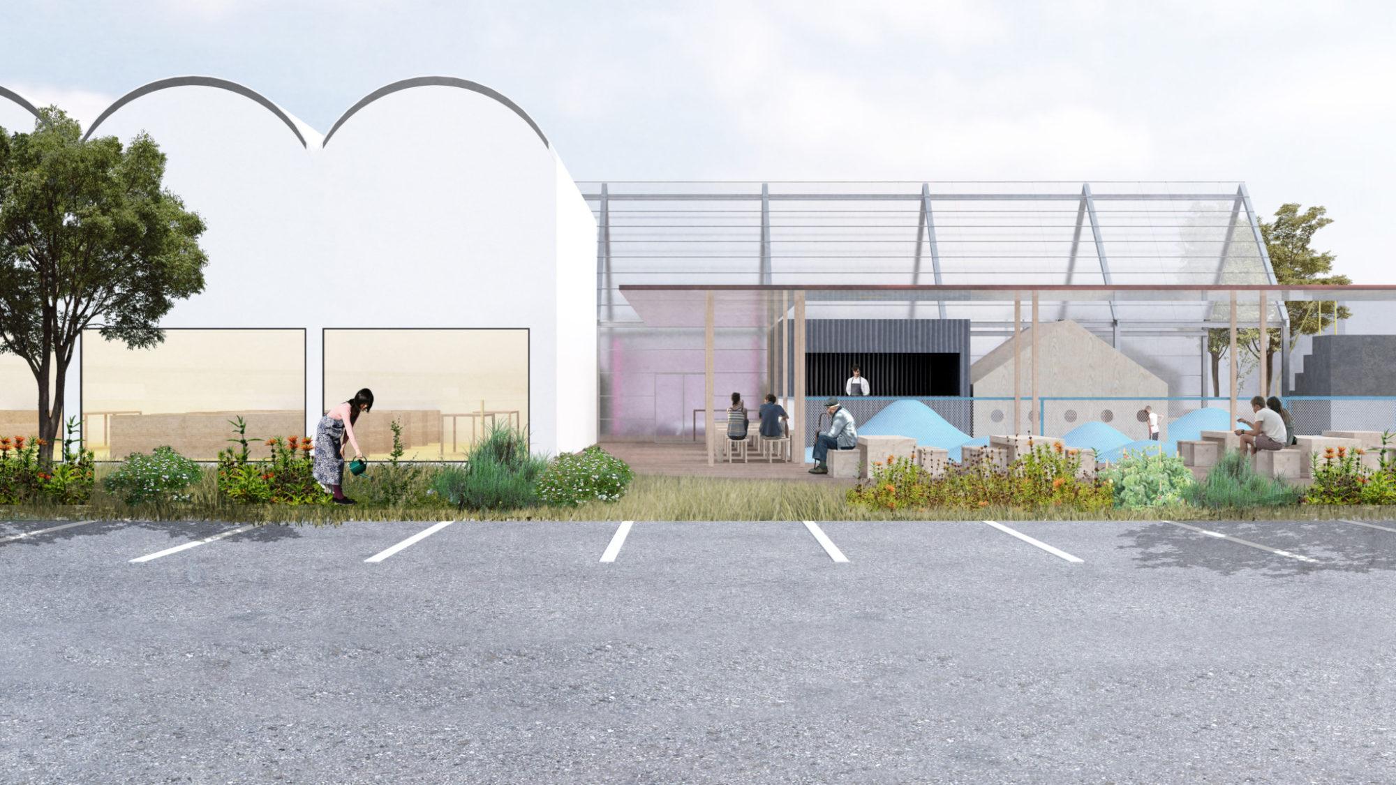 Kitago Michi no eki Proposal roadside station by mosaic design 北郷 道の駅 プロポーザル by モザイクデザイン