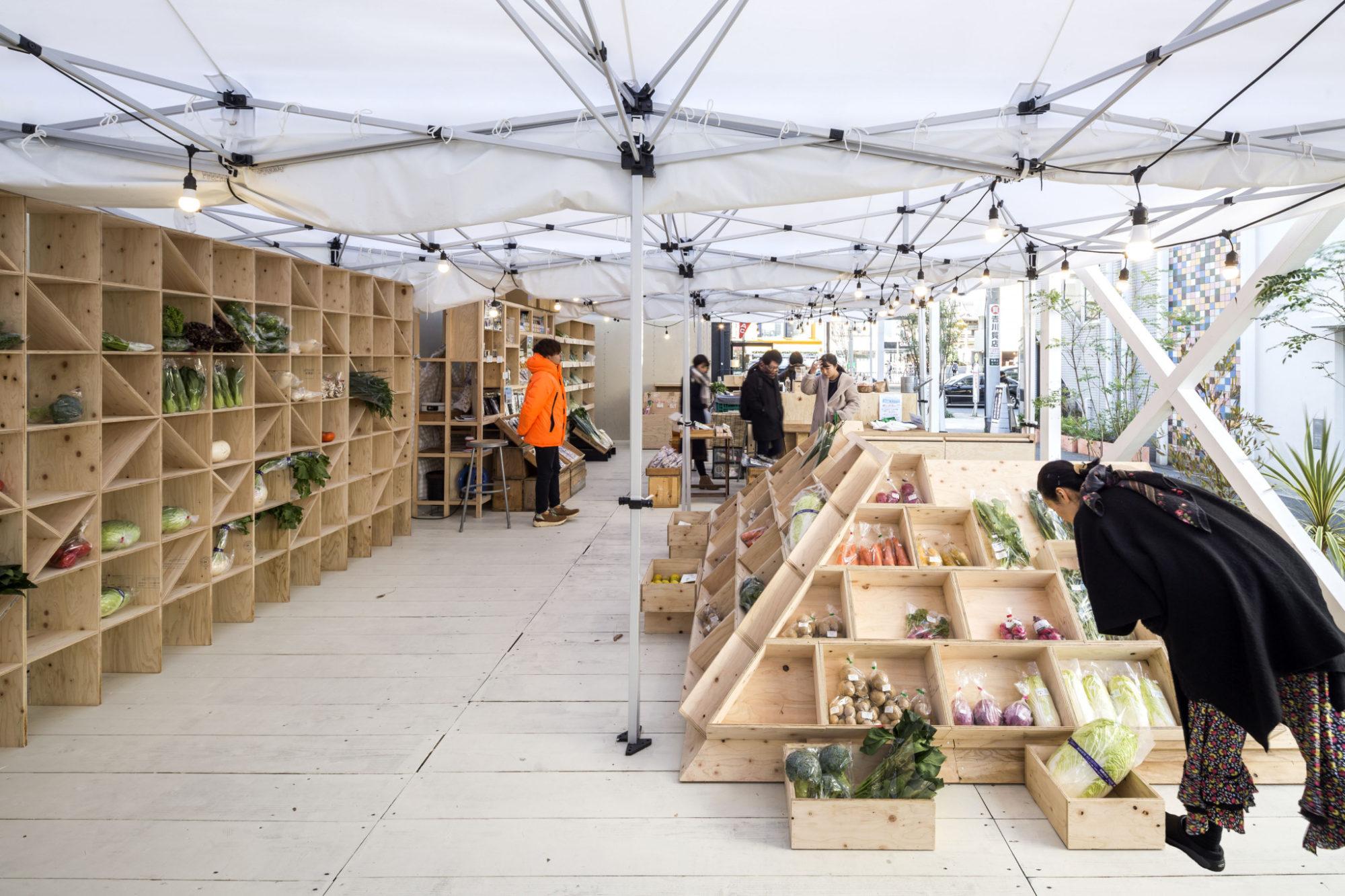 Commune Farmers Market Omotesando 表参道 ファーマーズマーケット コミューン Mosaic Design Ko Nakamura 中村航