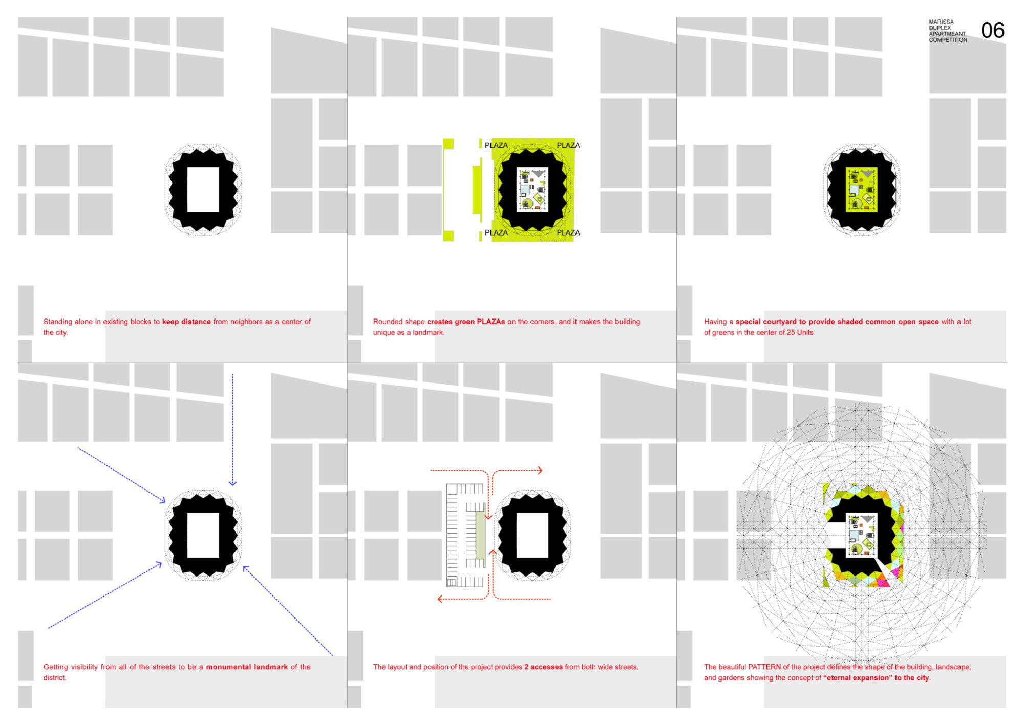 Marissa Duplex Apartment Competition Submission Mosaic Design Ko Nakamura Tokyo Saudi Arabia Residence Corrective condominium housing complex サウジアラビアの集合住宅 コンペティション 応募案